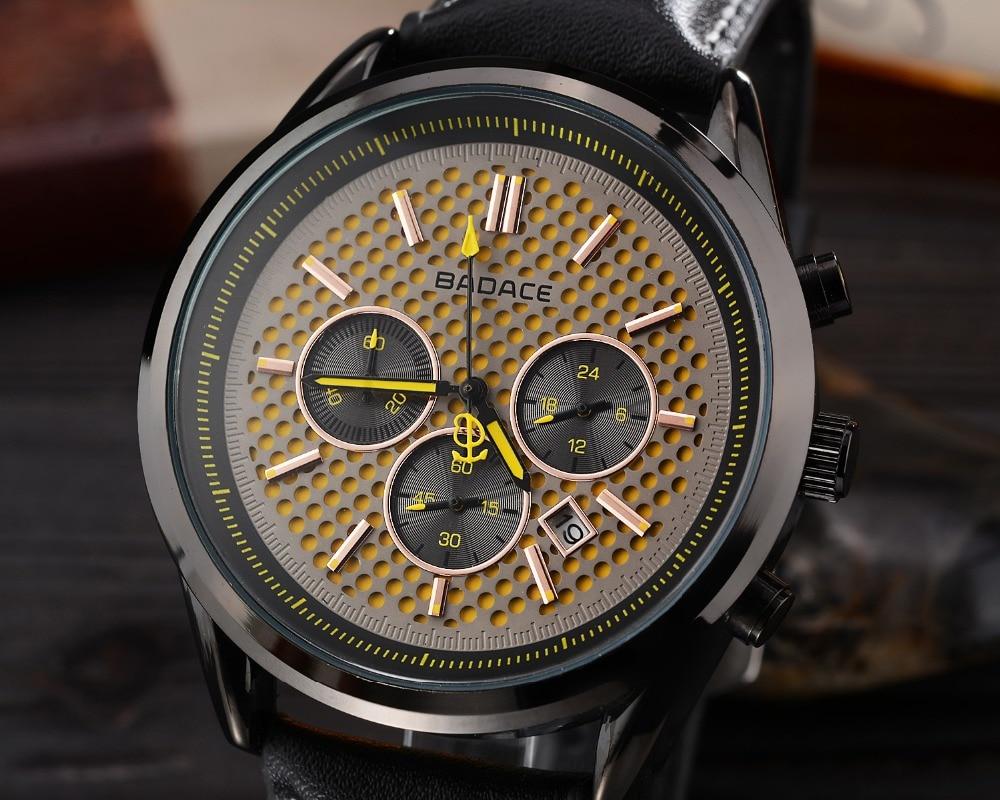 Reloj Hombre BADACE Luxury Brand Men font b Watch b font Montre Leather Waterproof Quartz font