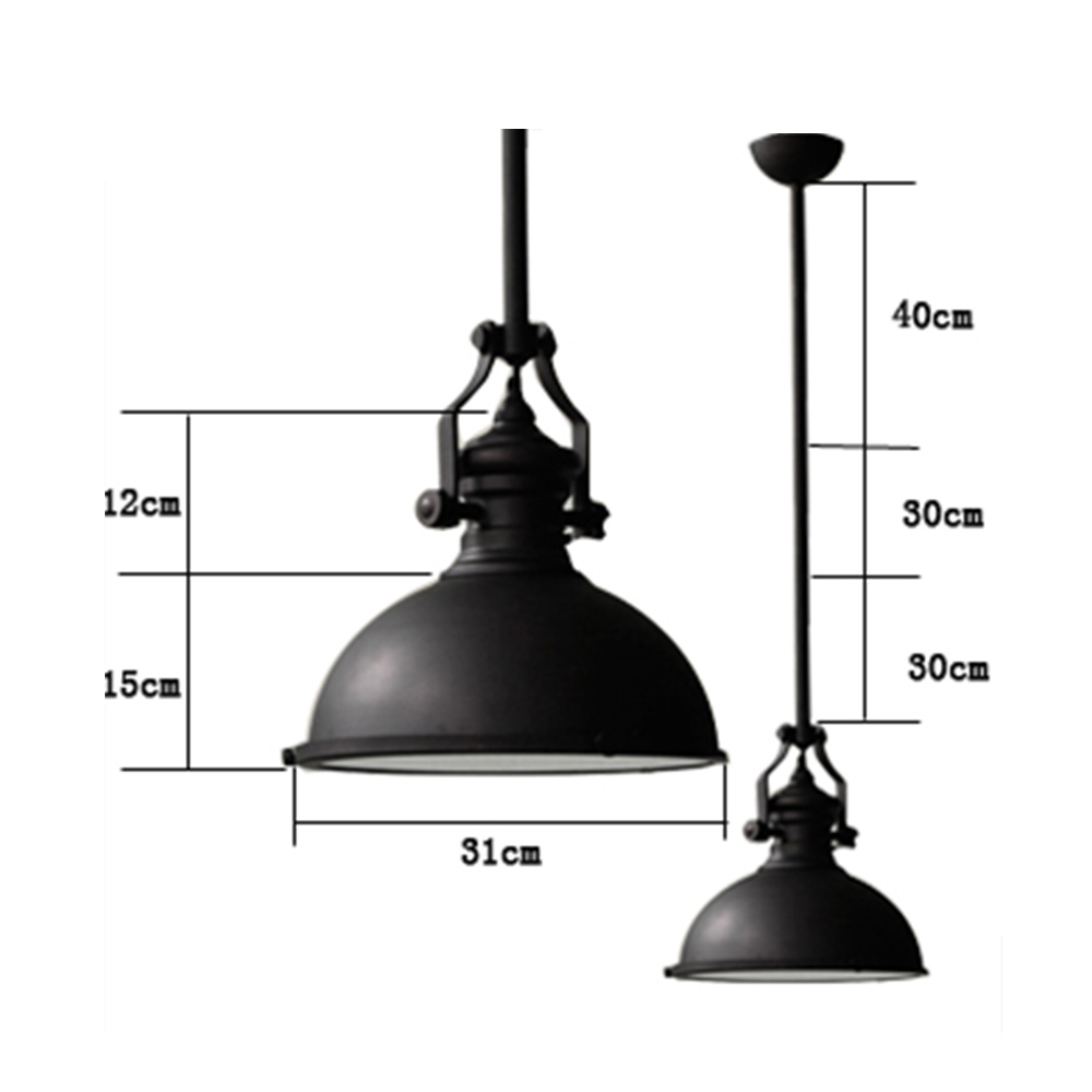 Classic Black Loft America Country Industrial Pendant Light Drop Lights Bar Cafe Droplight E27 Art Fixture Lighting Brief Nordic-in Pendant Lights from ...  sc 1 st  AliExpress.com & Classic Black Loft America Country Industrial Pendant Light Drop ...