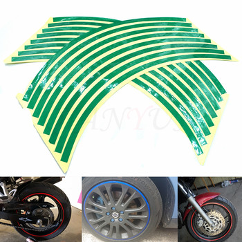 Motorcycle Styling Wheel Hub Tire Reflective Sticker Car Decorative Stripe Decal for HONDA PCX 125/150 PCX125/150 PCX150 PCX 150 image