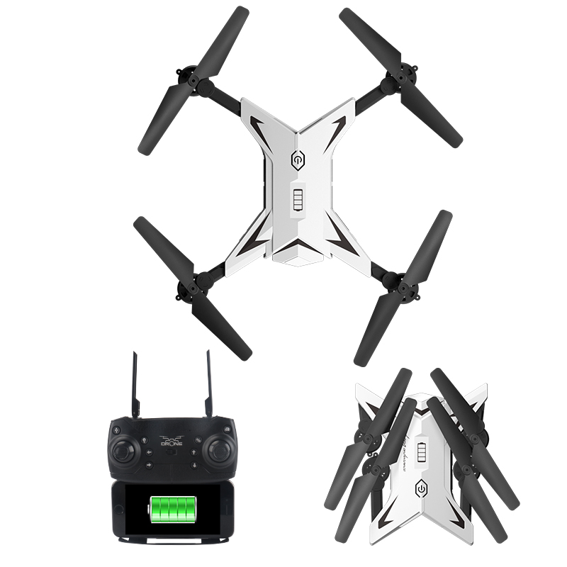 Mini Folding RC Drone Helicopter Quadcopter Aircraft Fixed Height Drone WIFI Real time Aerial Remote Control