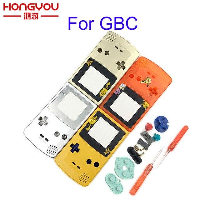 ل GBC طبعة محدودة شل استبدال ل Gameboy اللون GBC لعبة وحدة التحكم الإسكان الكامل