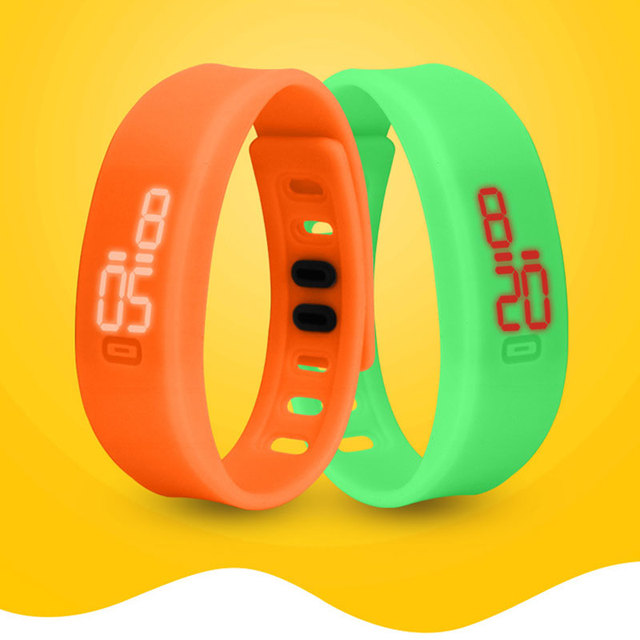 LED Digital Sport Watches Silicone Rubber Running Watch Date Time Unisex Bracele