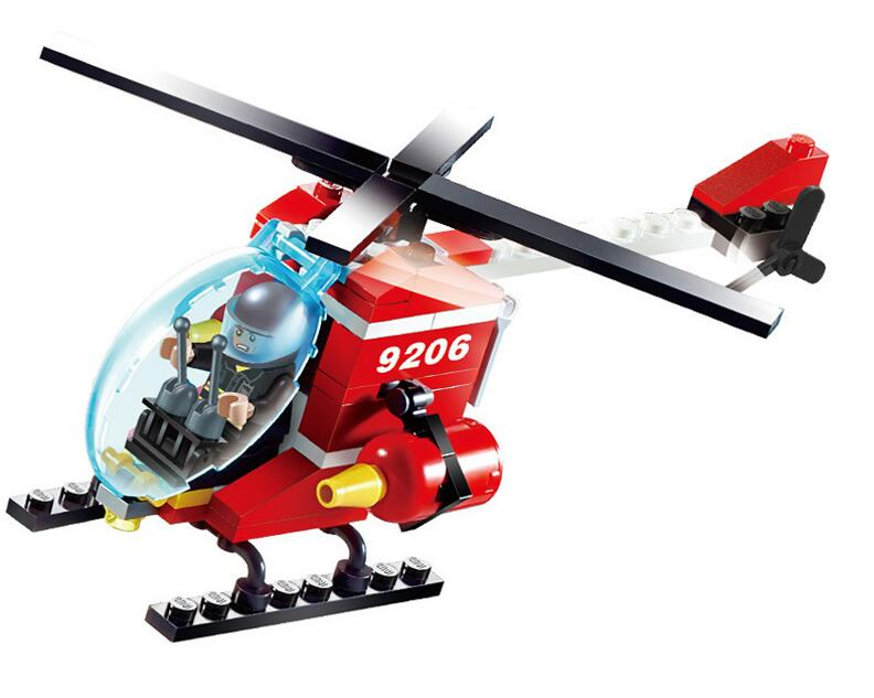 9206 91pcs Fire Rescue Constructor Model Kit Blocks Compatible LEGO Bricks Toys For Boys Girls Children Modeling
