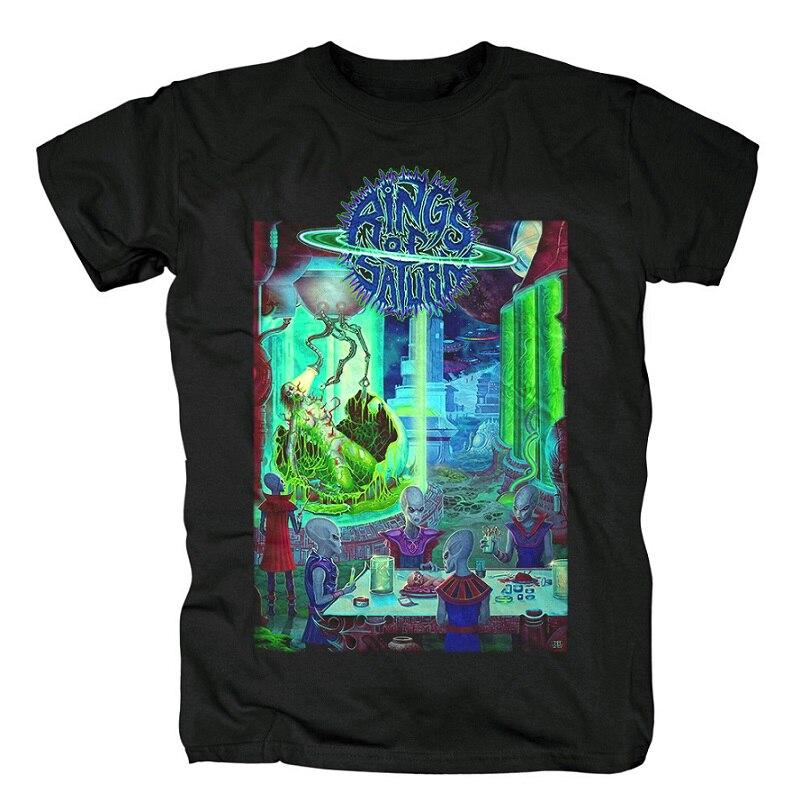 15 дизайнерских колец Сатурн инопланетянин группа рок брендовая рубашка Hardrock heavy thrash Metal deathcore хлопковая Футболка camiseta уличная одежда - Цвет: 14