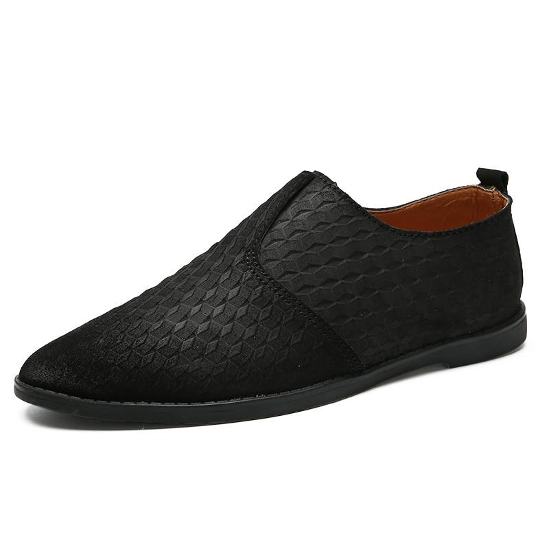 Mocassins En Non Haute bleu Chaussures marron Menquality Hommes De Cuir Noir Véritable Qualité Semelle Casual glissement Épaisse doErxWQCBe
