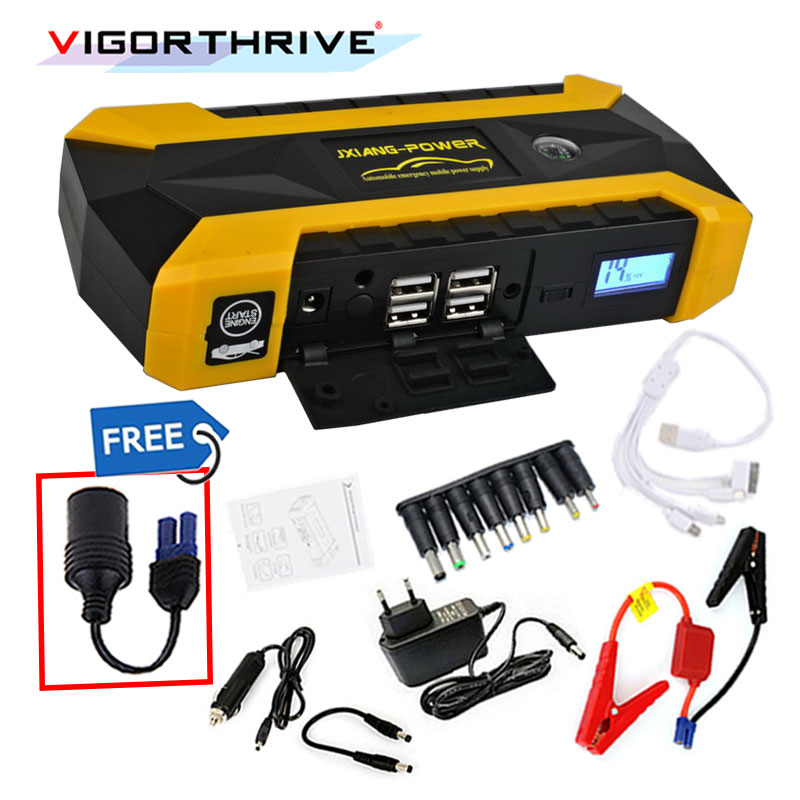 Démarreur de saut de voiture pour voiture à essence démarrage automatique batterie de voiture Booster dispositif de démarrage de l'essence 12 V voiture batterie externe décharge d'urgence