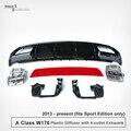 Mercedes Classe Um W176 A45 Olhe ABS Difusor & Aço Inoxidável Dicas de Escape Para O Benz W176 4-Outlet Desportivo Edição Apenas 2013-AGORA