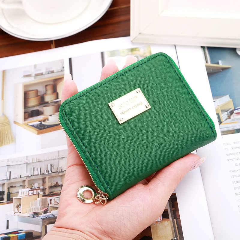 Zipper&Hasp Women Wallet For Coin Card Cash Invoice Fashion Lady Small Purse Short Solid Female Clutch Carteras