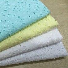 Хлопок ткань хлопок кружево хлопковая ткань с вышивкой для украшения дома 4 цвета синий желтый белый Белоснежка наивысшего качества