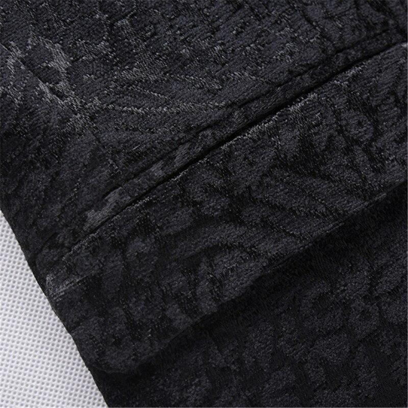 Olid negro chaqueta estampada de hombre de moda de hombre ropa fiesta etapa trajes para los cantantes Slim Fit abrigo blazer de hombre M 4XL - 4