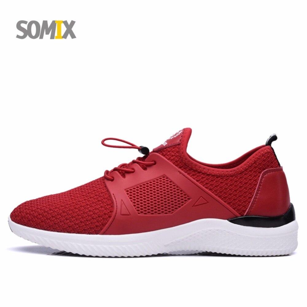 Somix zapatillas zapatos corrientes de los hombres del deporte de la zapatilla d