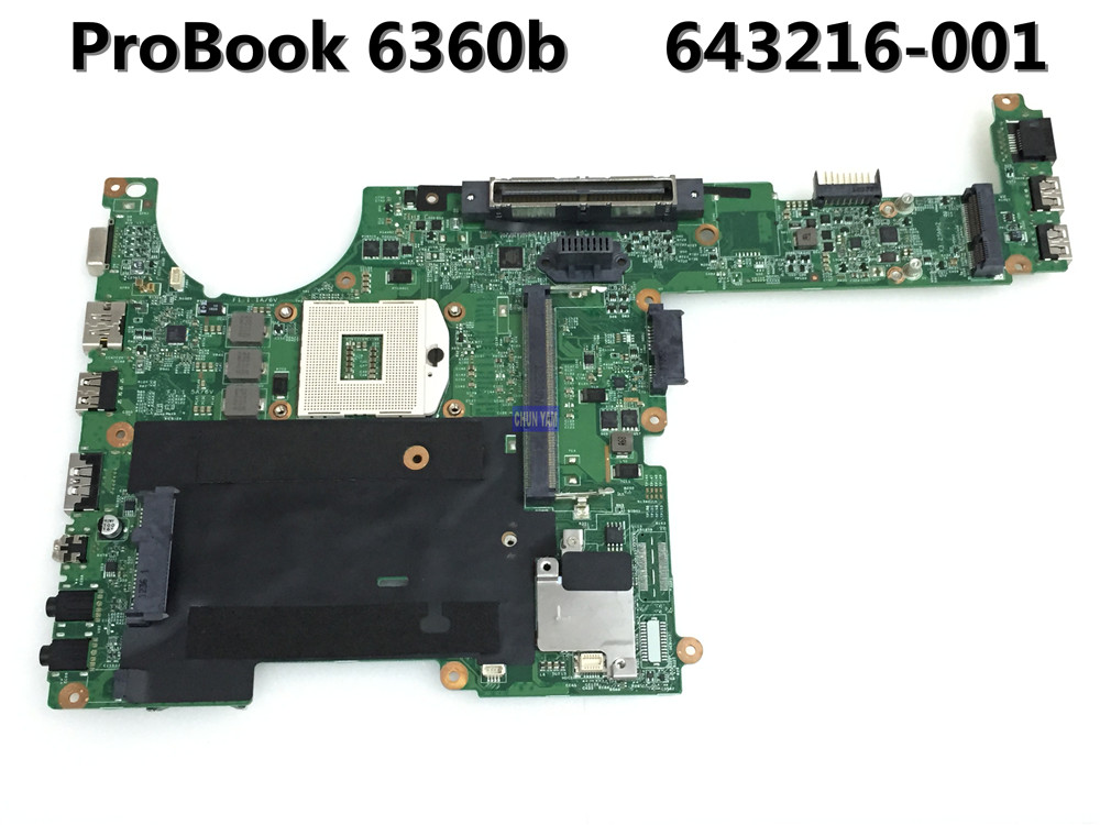 ФОТО Original 643216-001 FOR HP HP Compaq 6360b Laptop Motherboard 643216-001 HM65 Mainboard 90Days Warranty 100% tested