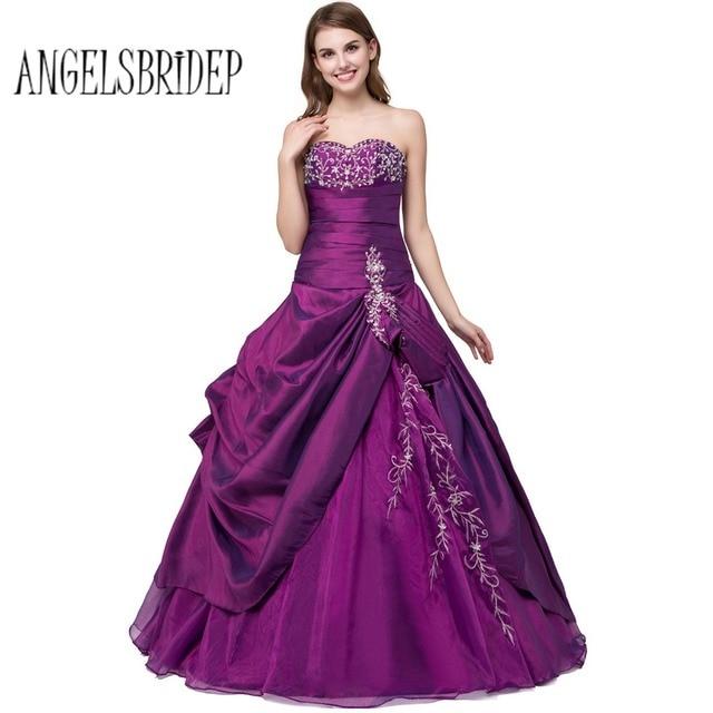 ANGELSBRIDEP Purple Sweet 16 Ball Gowns Quinceanera Dresses Cheap ...