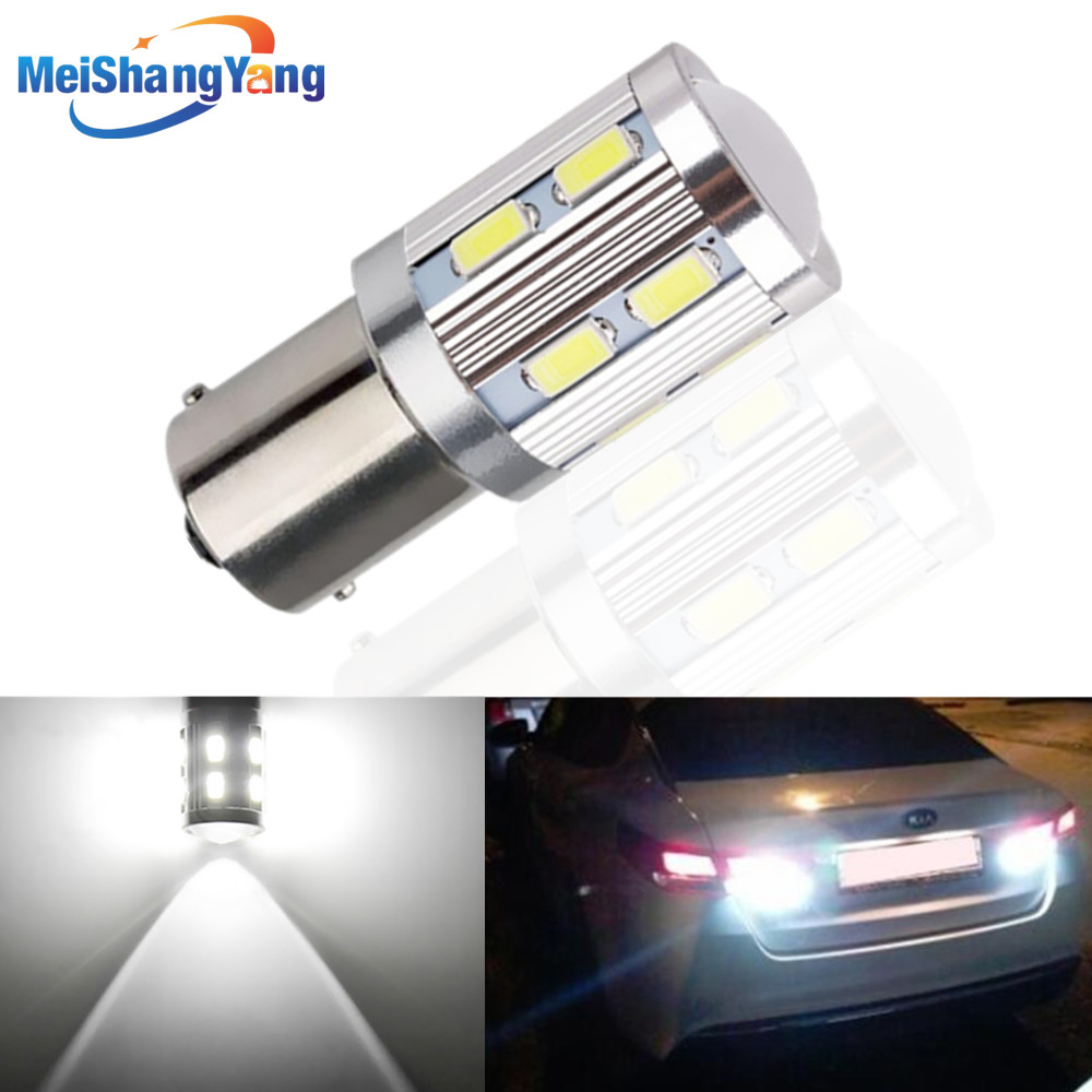 1156 BA15S 12 SMD Cree chips 5730 py21w p21w R5W Car Brake Reverse Lights Fog Lamps Turn Signal Bulb Yellow White Red 12V in Signal Lamp from Automobiles Motorcycles