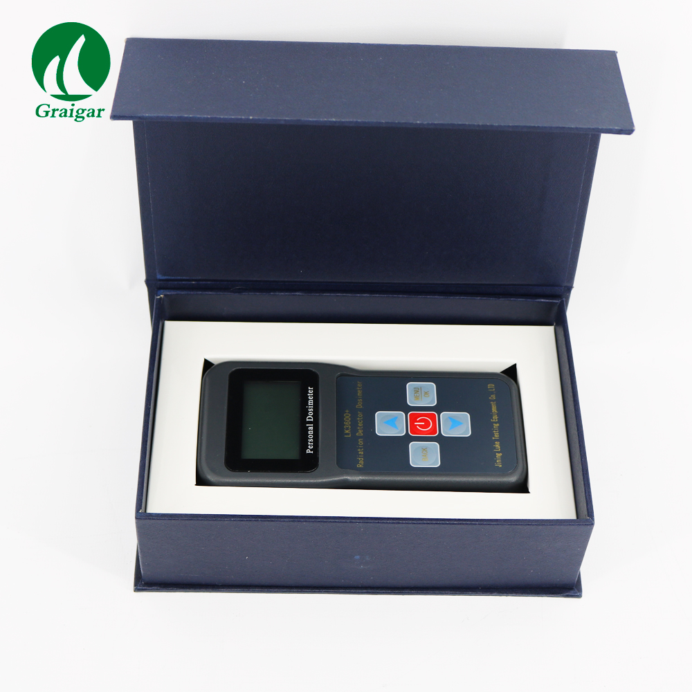 High Sensitivity Radiation Detector Portable Dosimeter LK3600+ Presettable Alarm Threshold of Dose Rate and Accumulated Dose