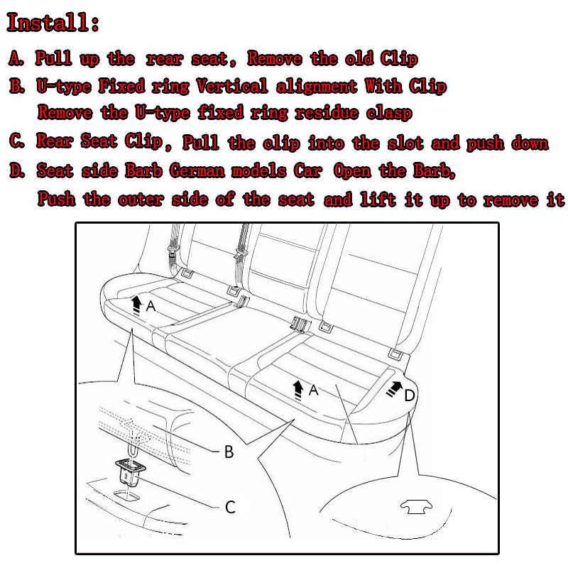 Для Mazda 3 CX5 CX7 для Mazda 6 MPV Субару Outback Подушка заднего сиденья Накладка для эскаватора с зажимом на место стационарной Пряжка заднего сиденья зажимы