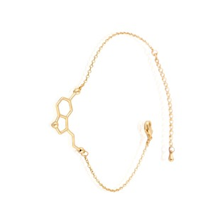 Oly2u New Fashion Women Bracelet Serotonin Molecule Chain Link Bracelet Chemical Structure Charm Bracelet Female-B035