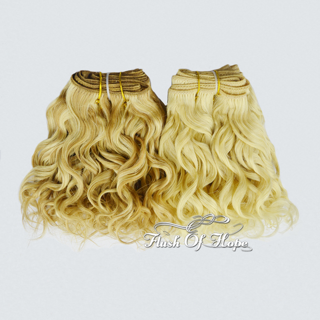 8inch Bleached Brazilian Super Diva Real Hair Extensions Blonde Hair
