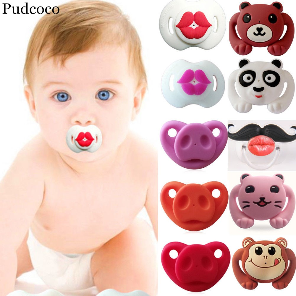 Silicone Funny Baby Pacifier Dummy Nipple Teethers Toddler Orthodontic Soothie