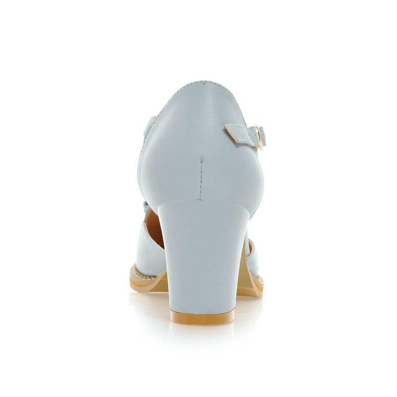 KarinLuna kwaliteit dames enkelriem stevige vierkante hakken schoenen - Damesschoenen - Foto 3