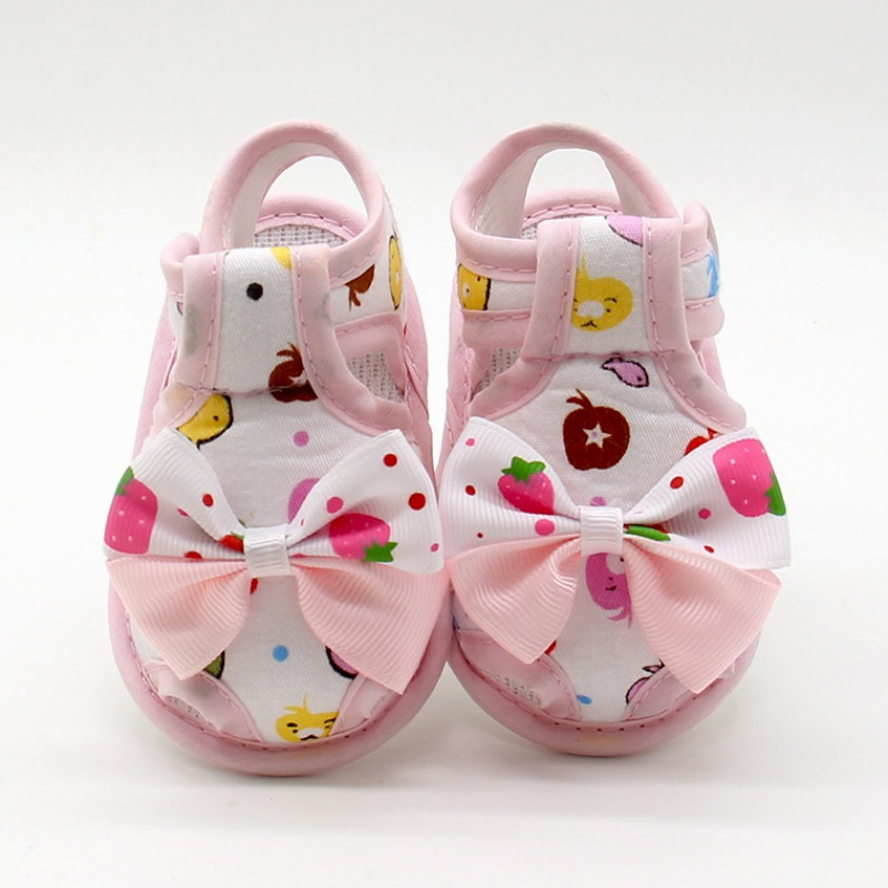 Summer Cute Toddlers Bow Soft Sole Baby Shoes Kids Girls Skid Proof Princess First Walker
