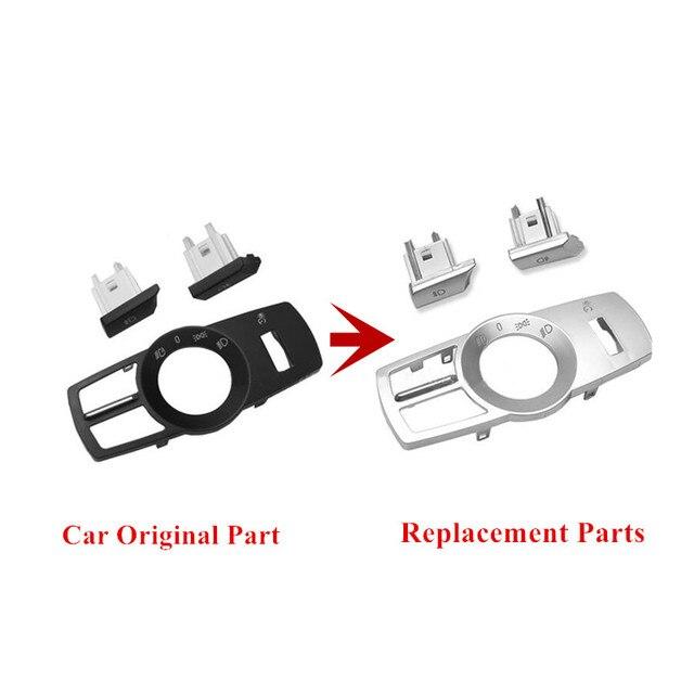 Accessoires de rechange pour BMW F10 F11 f01 f02 f03 F07 F25 F26 | ABS chromé, boutons de rechange de cadre, décoration de la garniture de Console 3 pièces