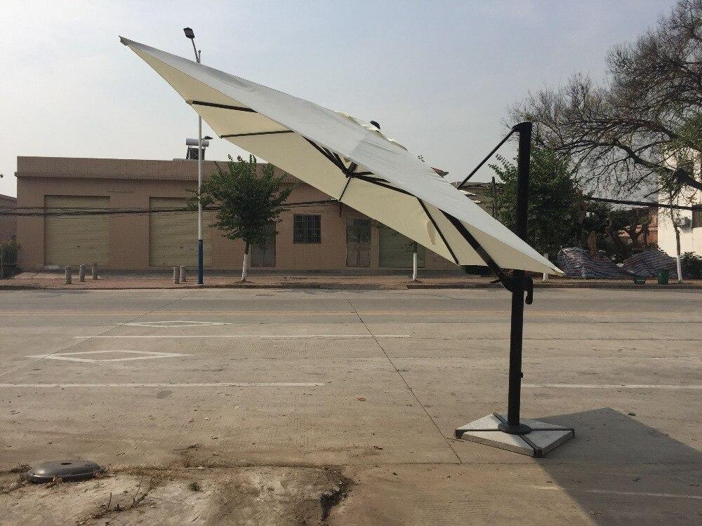 3*3 Meter Aluminum Big Umbrella Garden Sun Umbrella Parasol Patio Cover Sunshade 360 Degrees Rotation ( No Base )