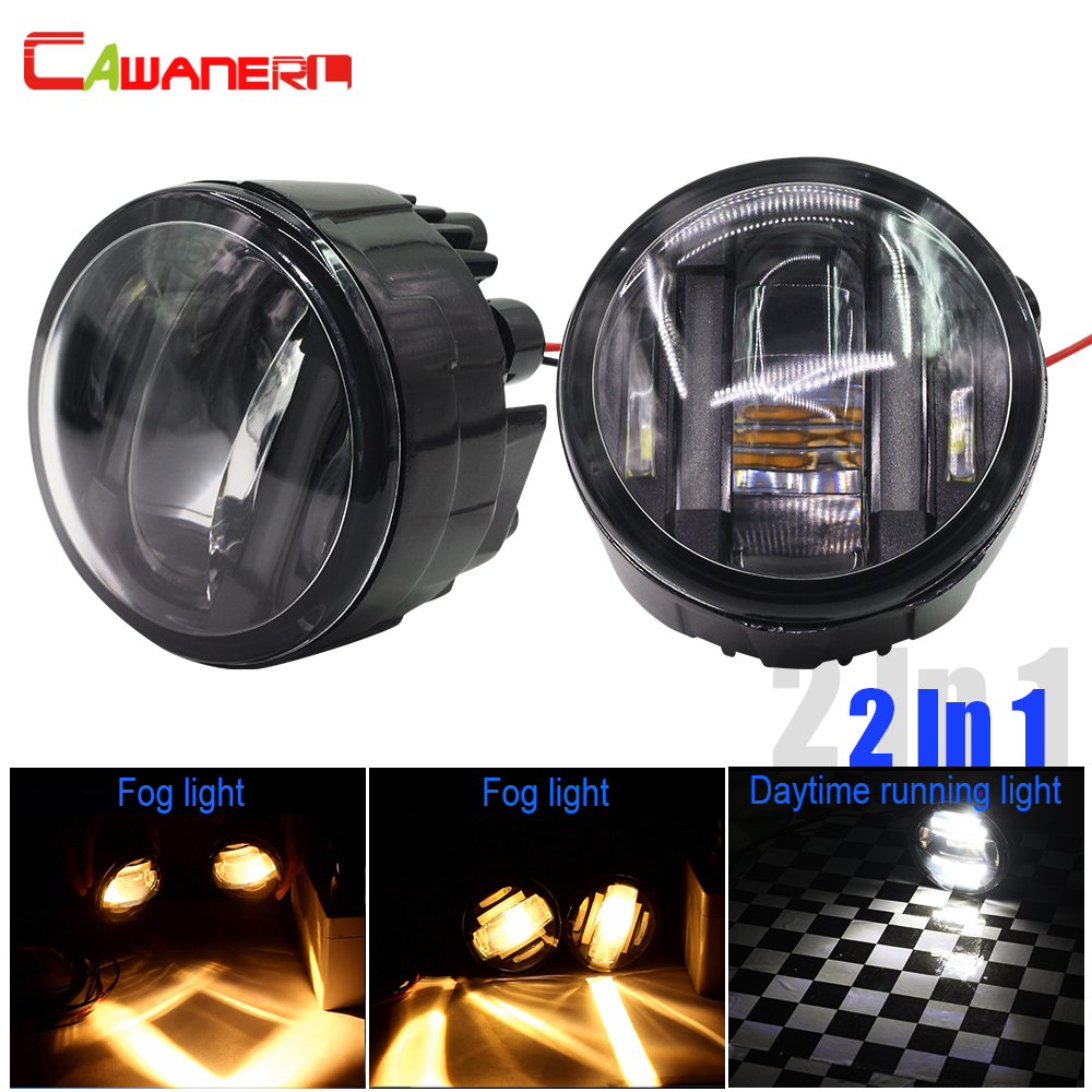 Cawanerl 2 Pieces Car LED Fog Light DRL Daytime Running Lamp For Infiniti EX35 EX37 FX37 FX45 FX50 M37 M56 QX70 QX50 Q60 G25 G37 for infiniti fx35 37 45 50 ex35 37 h11 wiring harness sockets wire connector switch 2 fog lights drl front bumper led lamp