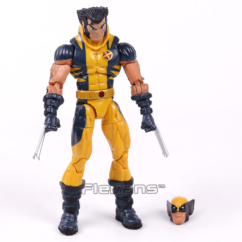 Original Genuine Marvel Legends X Men Logan PVC Action Figure Collectible Model Toy 15cm 7 marvel legends series x men wolverine claws logan action figure anime doll toy collectible model toys for children gift 18cm