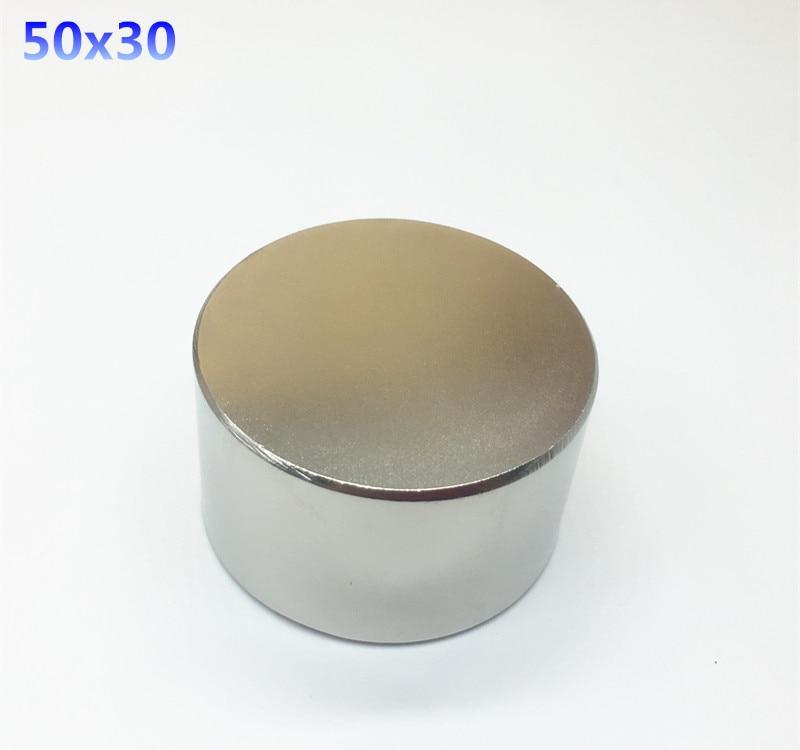 3pcs Neodymium magnet 50x30 mm gallium metal hot super strong round magnets 50*30  Neodimio magnet powerful permanent magnets 2pcs d22 200mm 10000 gauss strong neodymium magnet bar iron material removal