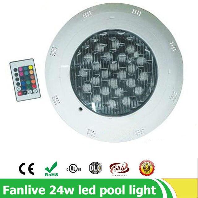 5pcs 24w Swiming Pool Light IP68 Ac12V Outdoor RGB Underwater Lights For Pools Led Waterproof Piscine Niche Piscina Lighting