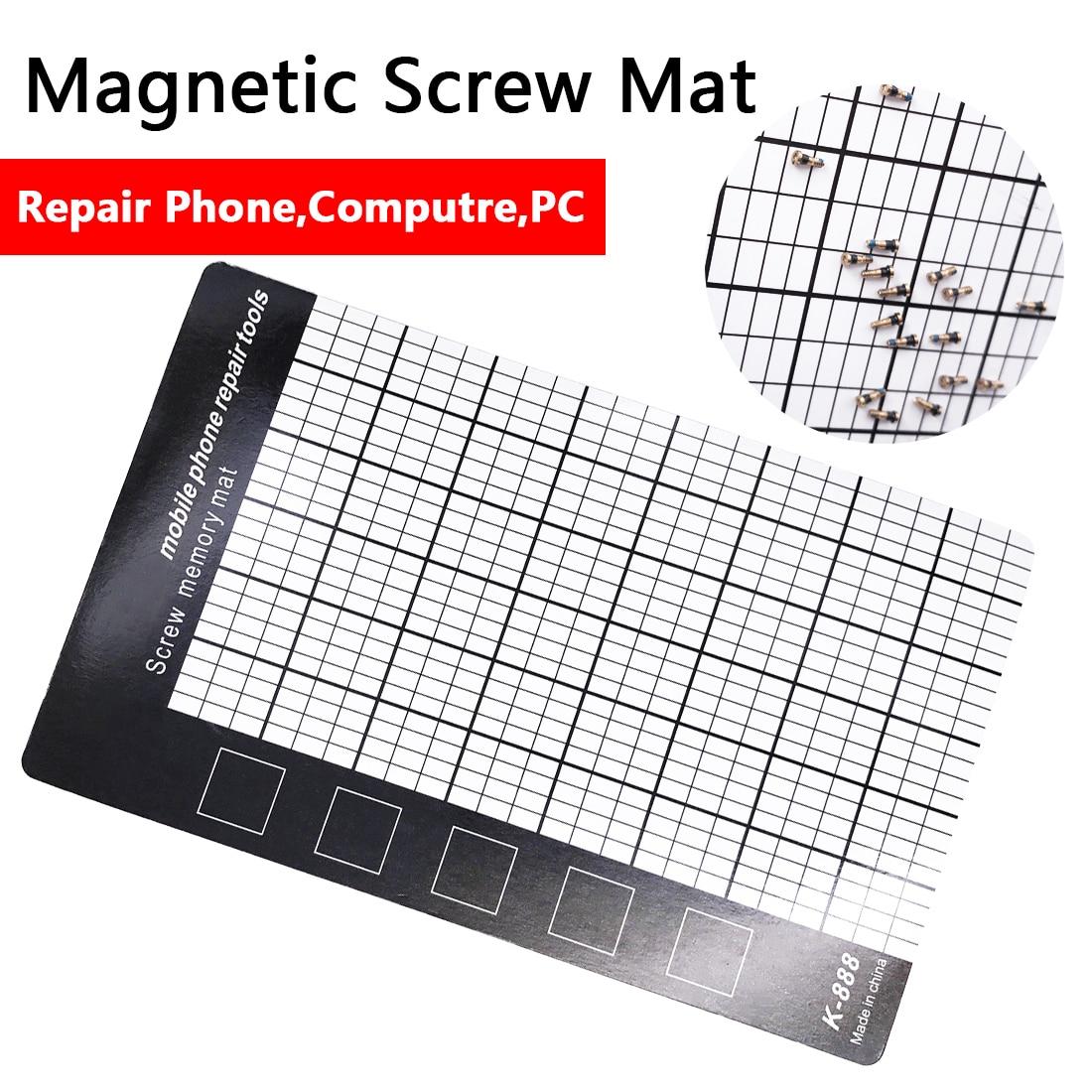 Mobile Phone Repair Tools Pad 145 X 90mm Magnetic Screw Mat Memory Chart Work Pad For Fixing Screws
