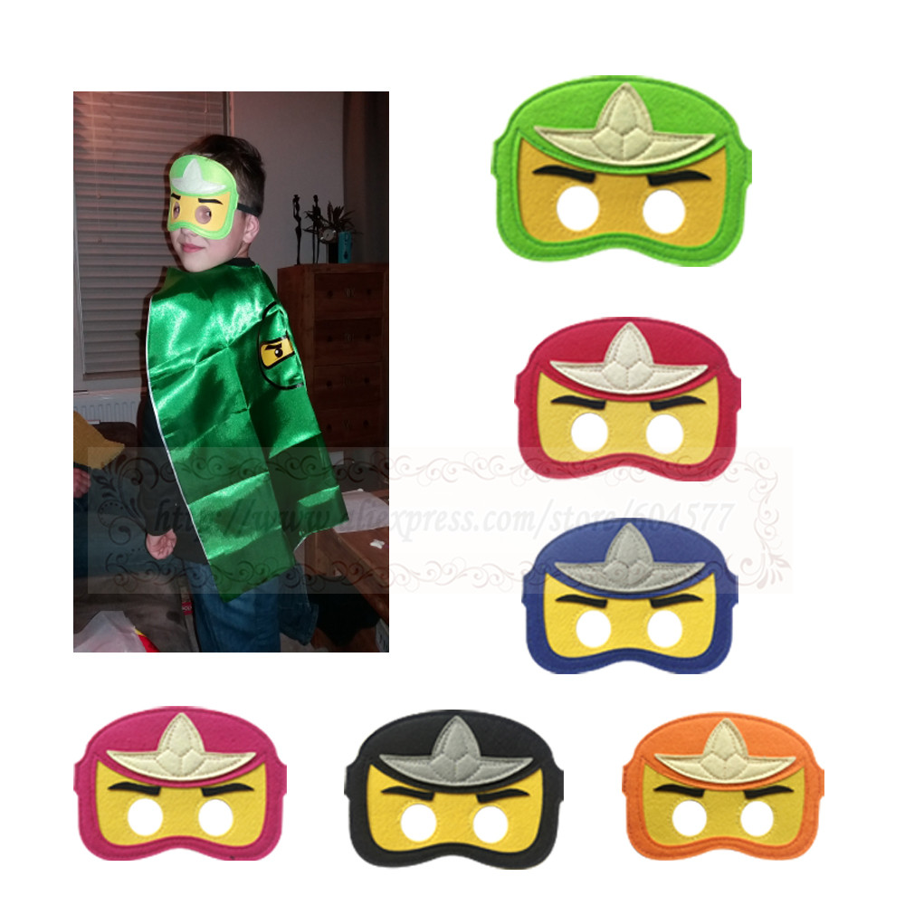 Ninj Costumes Masks Boys and Girls Cosplay birthday party Kids halloween costume felt mask