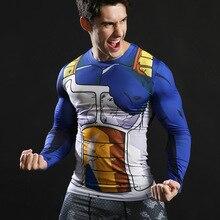3D Print T-shirt Japanese Fighting Anime Dragon Ball Goku Tshirt Boy Compression shirt Long sleeve Mens Clothes Cartoon t shirt