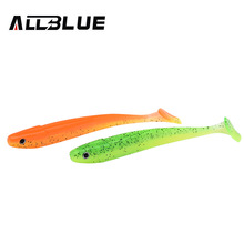 ALLBLUE New Vivid Worm Soft Lures Artificial Fishing Bait Jig Swim Shad Minnow Fishing Tackle Fishing Lures Peche