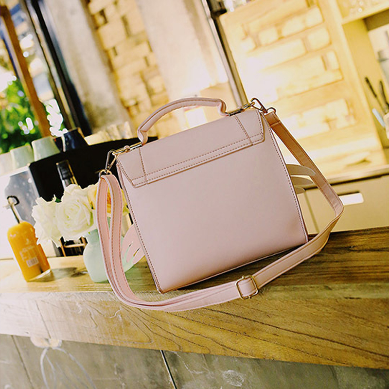 2019 New Girls Cute Pink Shoulder Bag Women Bow Wing Handbags Ladies Star Sequined Messenger Bag For Party Japan Style in Shoulder Bags from Luggage Bags