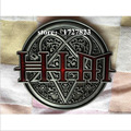 His Infernal Majesty music belt buckles unique HIM Silver belt buckle Retail company wholesale Western Turbo Nos Tunning