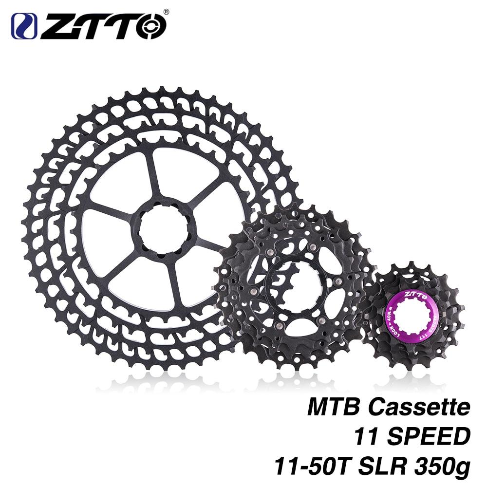 цена на ZTTO MTB 11Speed SLR Cassette 11-50T 11s Wide Ratio UltraLight 350g CNC Freewheel Mountain Bike Bicycle Parts for sram XX1 m9000