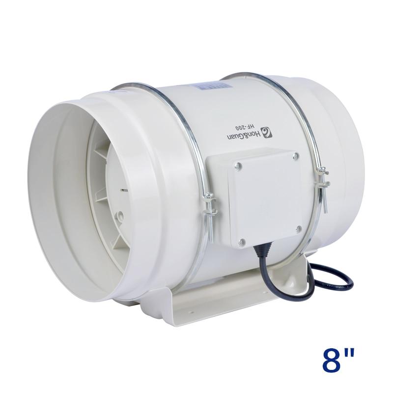 8 inch inline booster fan plastic ventilation pipe exhaust ceiling fan 220V mixed flow inline duct fan turbo fan 200mm стоимость