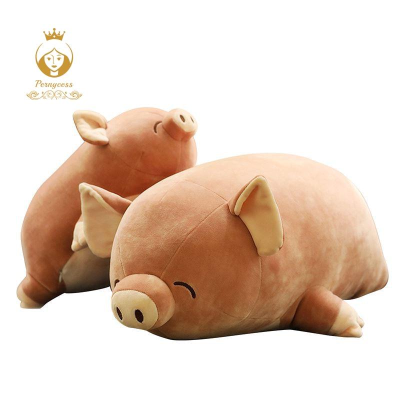 Creative plume coton rose pet pêche porc en peluche en peluche jouets, mignon de porc en peluche oreiller, enfants de couchage oreiller, apaiser poupée