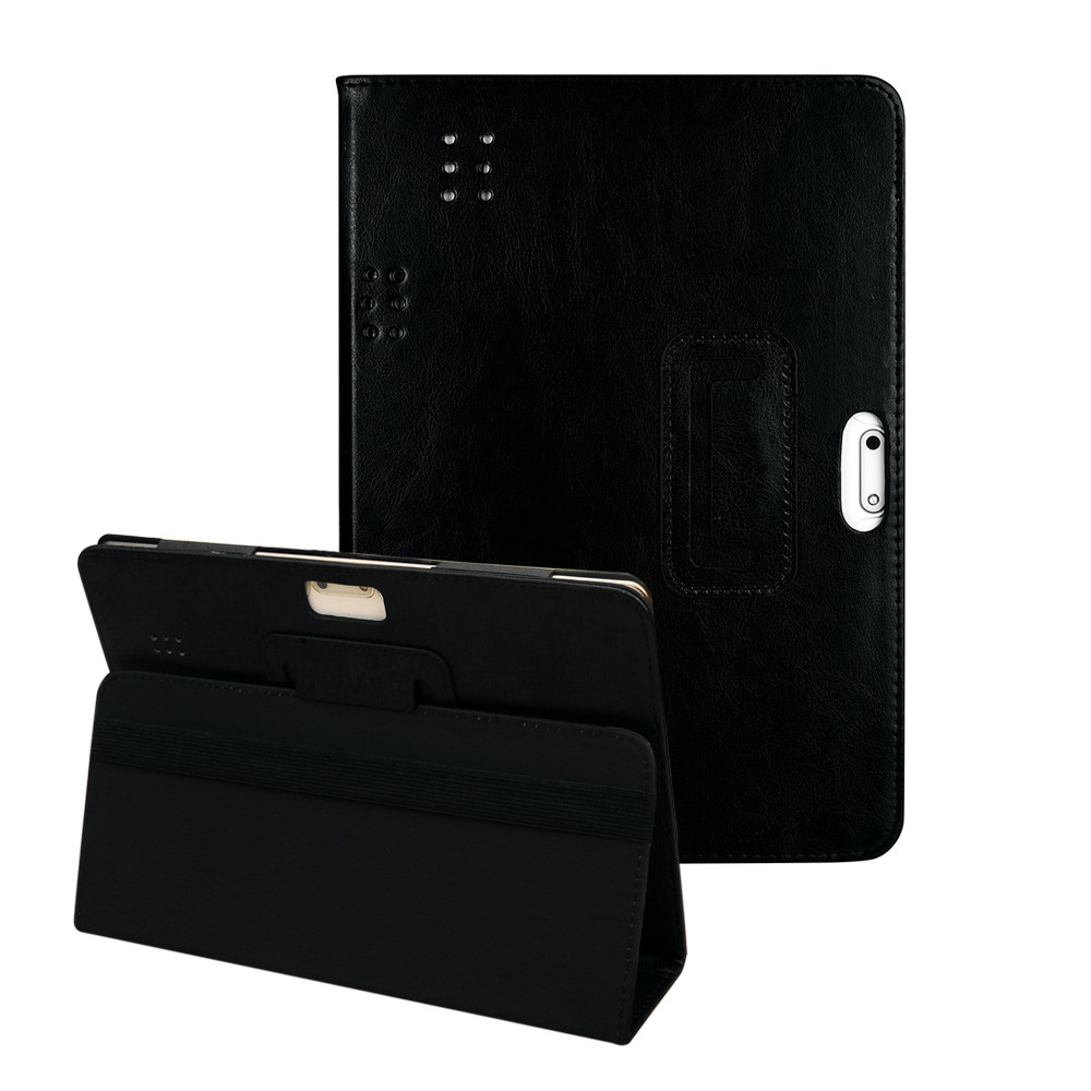 Universal Folio Solid Leather Stand Cover Case For 10 10.1 I