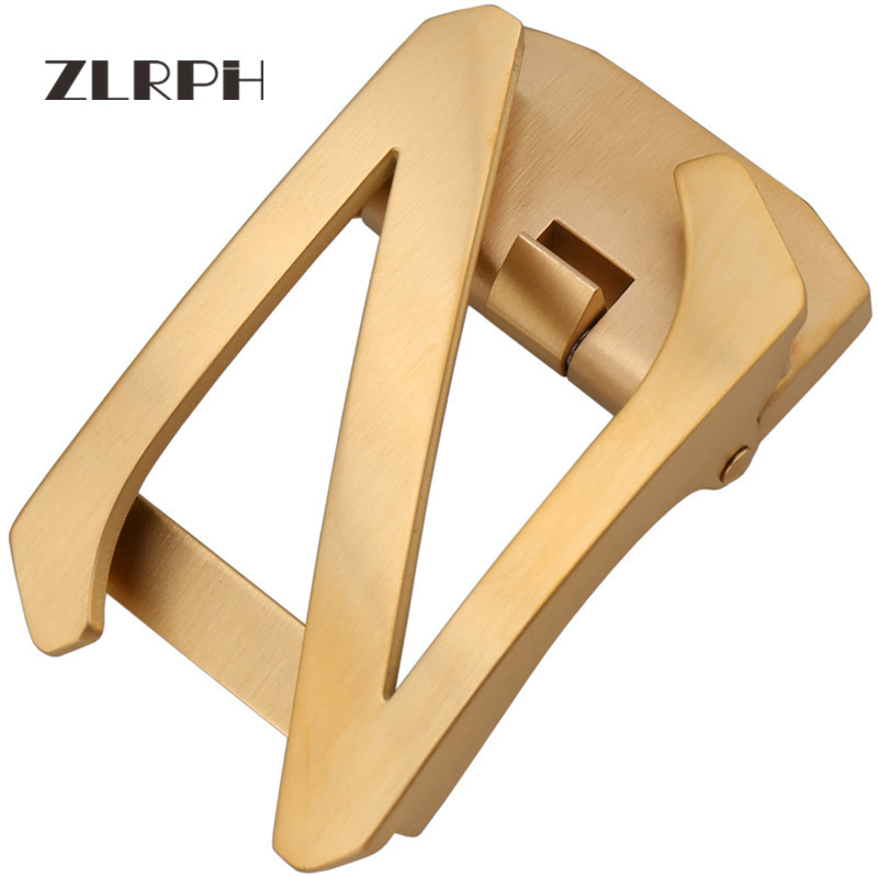 ZLRPH Stainless Steel Auto Buckle Business Belt Buckle Men's Waist Lead Letter Auto Button Stainless Steel Prevention Of Allergy