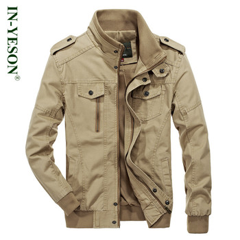 Brand Military Jacket Men Bomber Jacket High Quality Spring Jacket Short Stand Collar Zipper Army tactica Coat jaqueta masculina