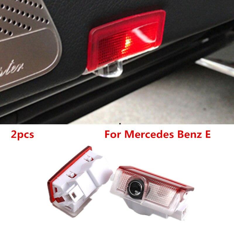 2pcs For Mercedes Benz E M Class W212 W166 X166 GLA 220 Led Car Door Logo Laser Projector Light Emblem Ghost Shadow Lamp