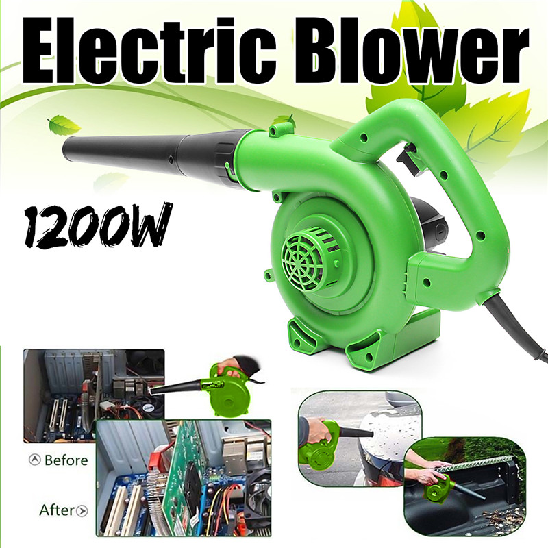 1200W Portable Electric Air Blower Handheld Garden Leaf Collector Car Computer Cleaner Dust Air Blowing Collecting Machine
