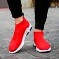 2017 Hombres Zapatos Transpirables Hombres Zapatos Casuales de Verano Atan Para Arriba Para Hombre Entrenadores Planas Zapatos Para Caminar Deporte Cómodas Zapatillas Hombre