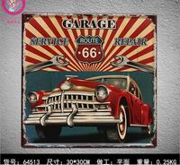 ROUTE 66 GARAGE PRINTING Tin Sign Metal Plaque Vintage Style Wall Sticker PUB House Metal Painting