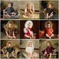 Dvotinst новорожденных фотографии реквизит для ребенка крючком вязать мягкие наряды одежда комбинезоны малышек Fotografia аксессуары
