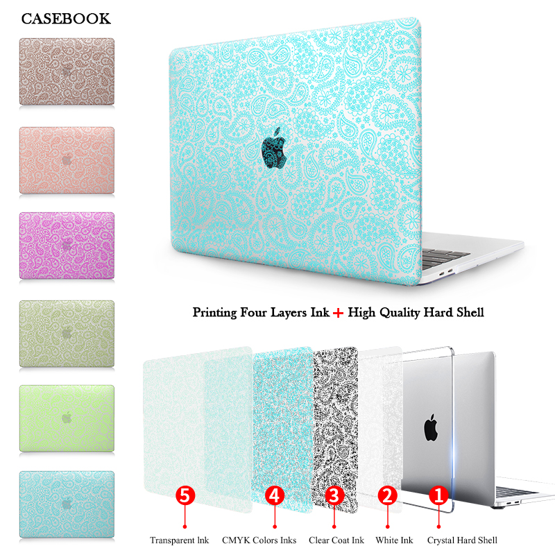 CASEBOOK Floral Seamless Case For Macbook Pro 13 A1706/A1708 Cover Laptop Sleeve for Mac Book Pro 15 inch A1707 Touch bar Case