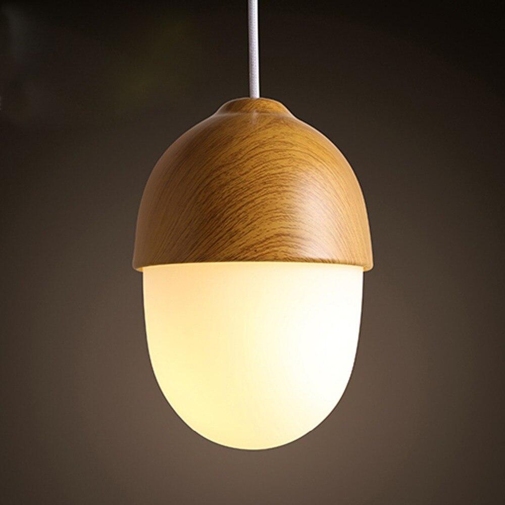 Moderne pendentif lampe nordique écrou forme japon pendentif lumière vintage pendentif lampes salle à manger éclairage